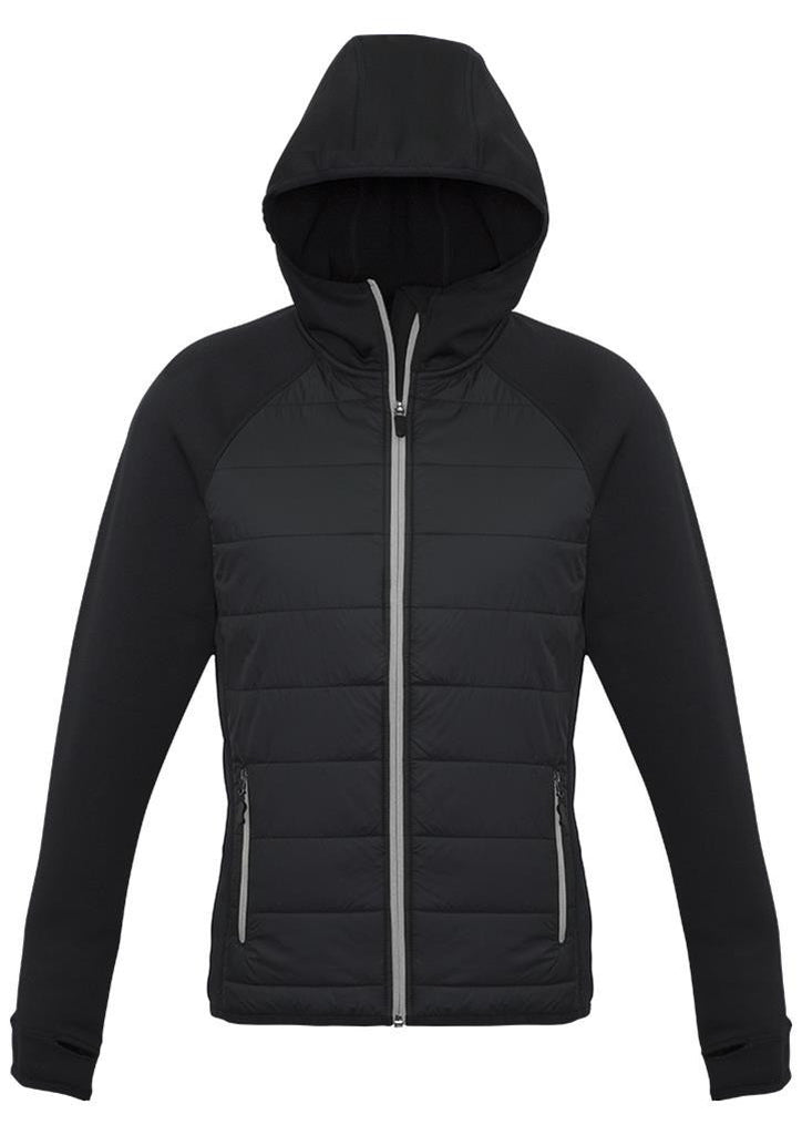 Biz Collection-Biz Collection Ladies Stealth Tech Hoodie-Black/Silver / XS-Corporate Apparel Online - 6