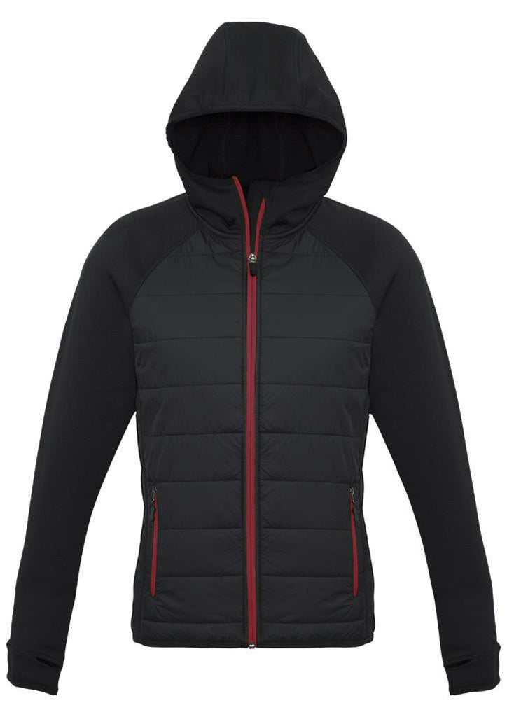 Biz Collection-Biz Collection Ladies Stealth Tech Hoodie-Black/Red / XS-Corporate Apparel Online - 5