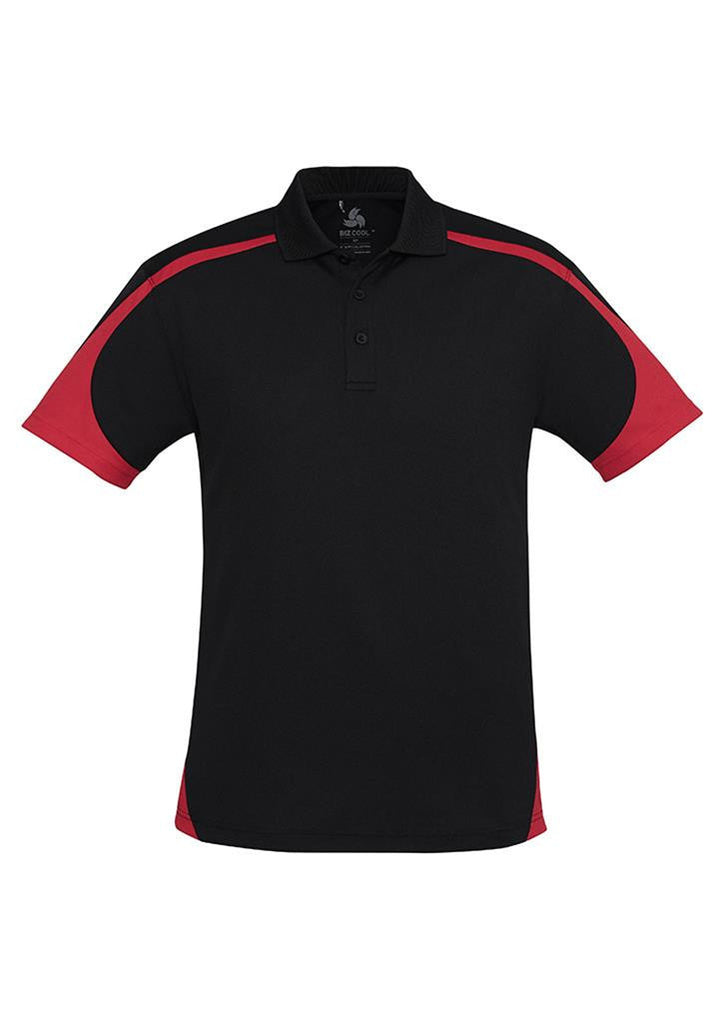 Biz Collection-Biz Collection Mens Talon Polo-Black/Red / S-Corporate Apparel Online - 6
