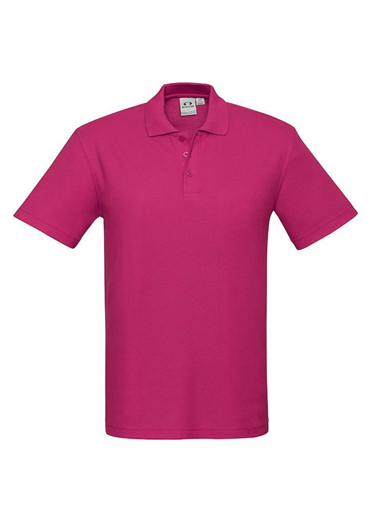 Biz Collection-Biz Collection Mens Crew Polo(1st 10 colours)-Fuchsia / S-Corporate Apparel Online - 10
