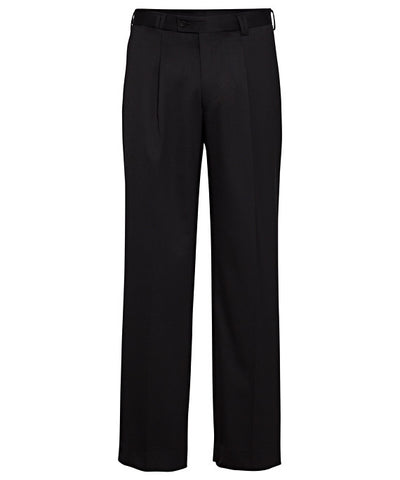 Bracks-Bracks Wool Blend 1 Pleat Trouser-Black / 92S-Corporate Apparel Online - 1