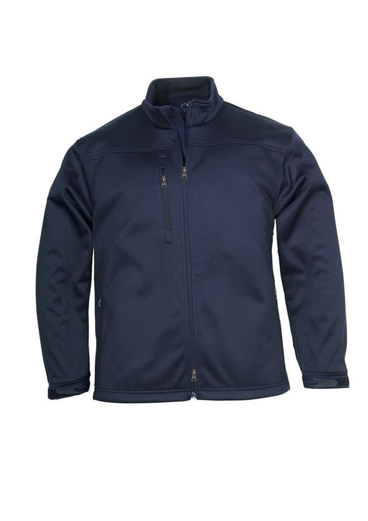 Biz Collection-Biz Collection Mens Soft Shell Jacket-Navy / S-Corporate Apparel Online - 2