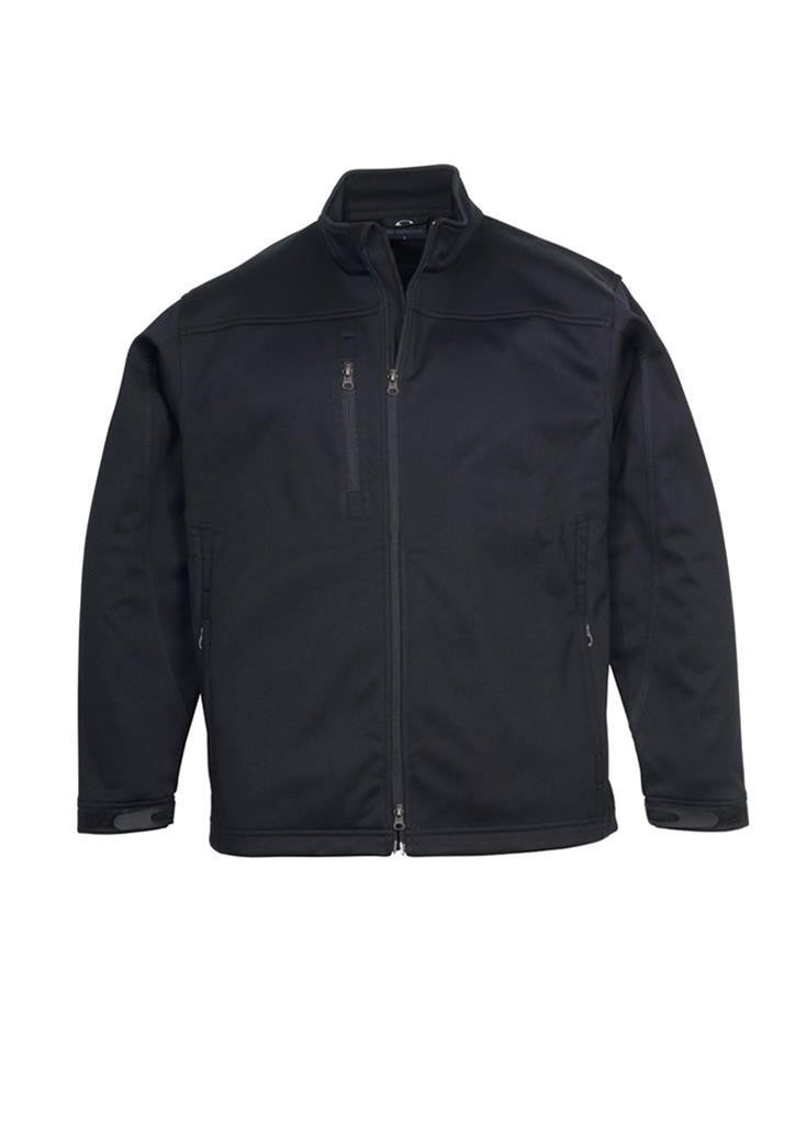 Biz Collection-Biz Collection Mens Soft Shell Jacket-Black / S-Corporate Apparel Online - 3