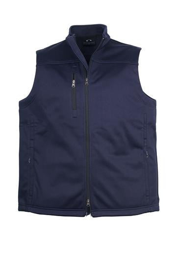 Biz Collection-Biz Collection Mens Soft Shell Vest-Navy / S-Corporate Apparel Online - 2