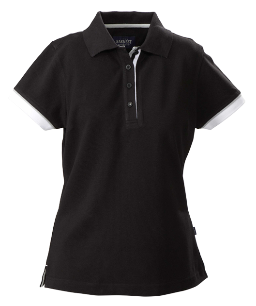 James Harvest-James Harvest Antreville Ladies Polos-6 / BLACK-Corporate Apparel Online - 4