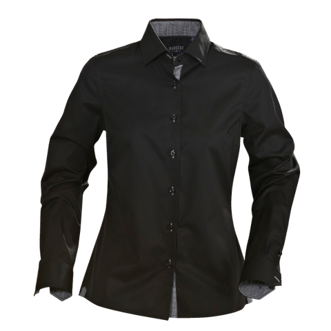 James Harvest-James Harvest Baltimore Ladies Shirts-8 / black-Corporate Apparel Online - 1