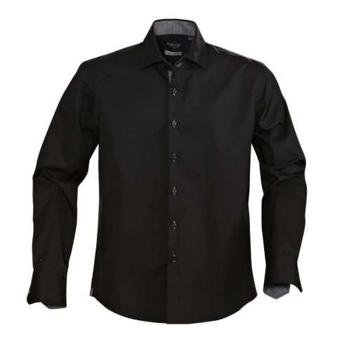 James Harvest-James Harvest Baltimore Gents Shirts-S / BLACK-Corporate Apparel Online - 1