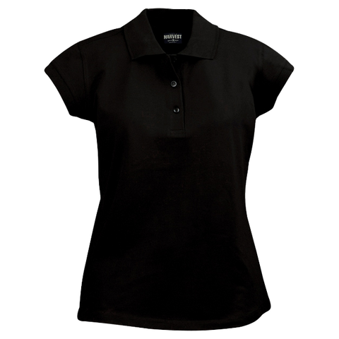 James Harvest-James Harvest Birdie Ladies Polos-8 / BLACK-Corporate Apparel Online - 1