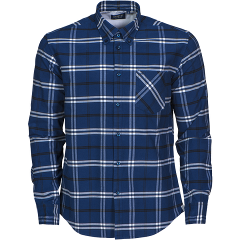 James Harvest-James Harvest Brigham Gents Shirts-S / NAVY/WHITE-Corporate Apparel Online