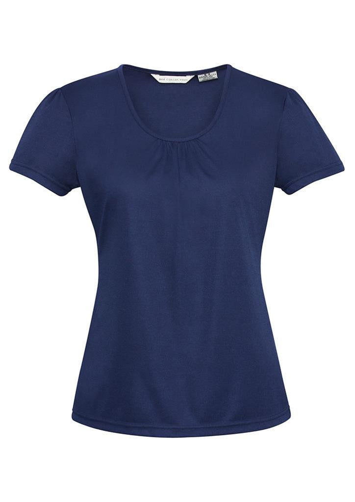 Biz Collection-Biz Collection Ladies Chic Top-Midnight Blue / 6-Corporate Apparel Online - 2