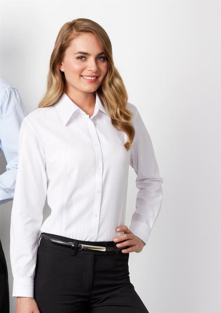 Biz Collection-Biz Collection Ladies Boston Long Sleeve Shirt--Corporate Apparel Online - 1