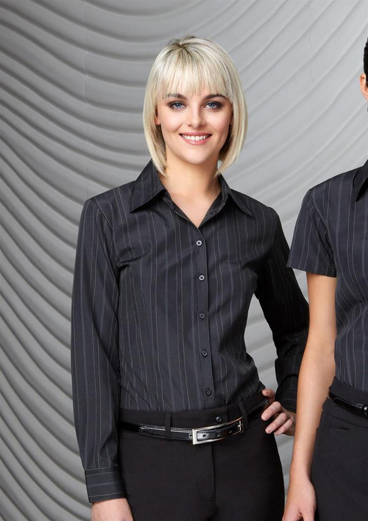 Biz Collection-Biz Collection Ladies New Yorker Long Sleeve Shirt--Corporate Apparel Online - 1
