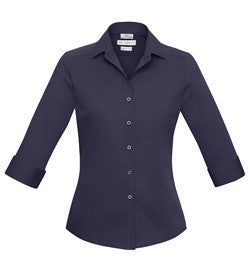 Biz Collection-Biz Collection Verve Ladies 3/4 Sleeve Shirt-Mid Night Blue / 6-Corporate Apparel Online - 6