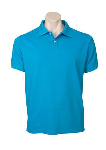 Biz Collection-Biz Collection Mens Neon Polo-Cyan Blue / Small-Corporate Apparel Online - 4
