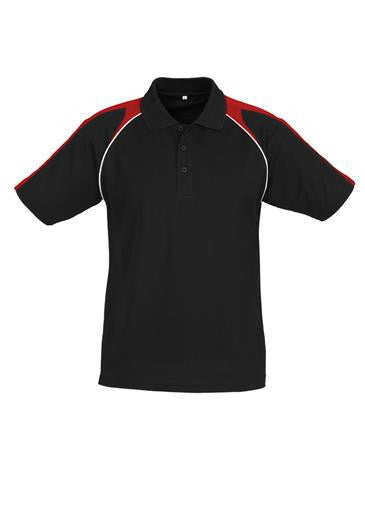 Biz Collection-Biz Collection Mens Triton Polo-Black / Red / White / S-Corporate Apparel Online - 5