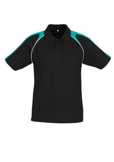 Biz Collection-Biz Collection Mens Triton Polo-Black / Teal / White / S-Corporate Apparel Online - 6