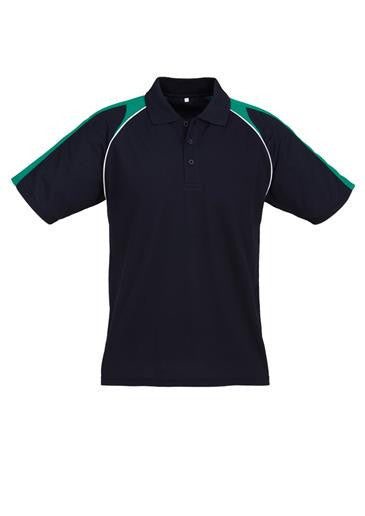 Biz Collection-Biz Collection Mens Triton Polo-Navy/Kelly Green/White / S-Corporate Apparel Online - 2