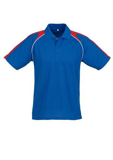 Biz Collection-Biz Collection Mens Triton Polo-Royal / Red / White / S-Corporate Apparel Online - 11