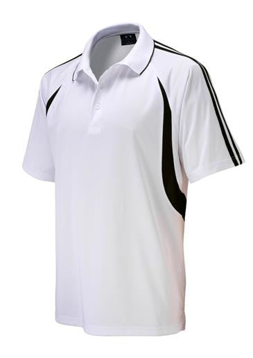 Biz Collection-Biz Collection Kids Flash Polo 2nd (6 colour)-White/Black / 4-Corporate Apparel Online - 2