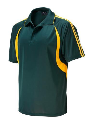 Biz Collection-Biz Collection Mens  Flash Polo 2nd ( 6 Colour )-Forest/Gold / Small-Corporate Apparel Online - 7