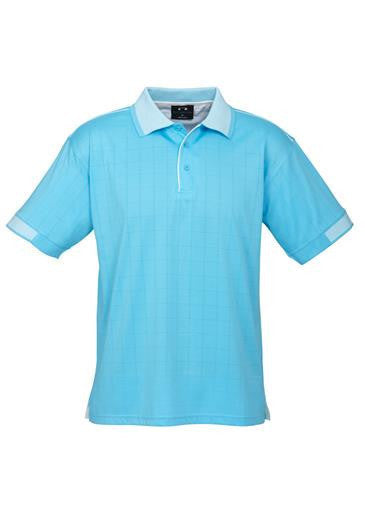 Biz Collection-Biz Collection Mens Noosa Polo-Aqua Blue / White / Small-Corporate Apparel Online - 2