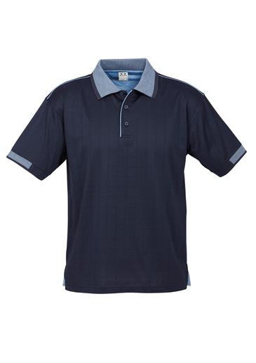 Biz Collection-Biz Collection Mens Noosa Polo-Navy / Spring Blue / Small-Corporate Apparel Online - 3