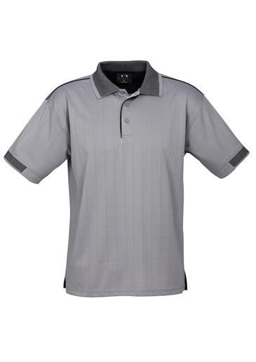 Biz Collection-Biz Collection Mens Noosa Polo-Silver Grey / Black / Small-Corporate Apparel Online - 4