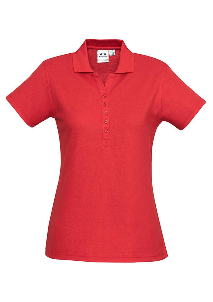 Biz Collection-Biz Collection Ladies Crew Polo(1st 10 Colours)-Red / 8-Corporate Apparel Online - 10