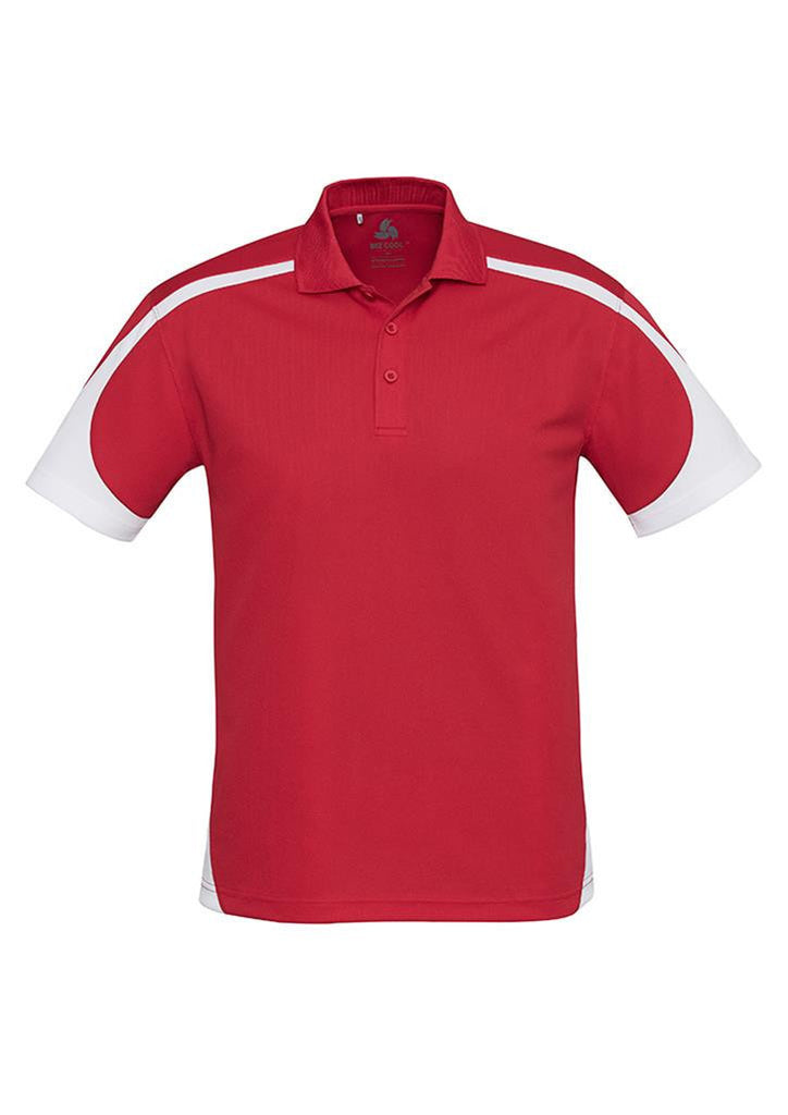 Biz Collection-Biz Collection Mens Talon Polo-Red/White / S-Corporate Apparel Online - 10