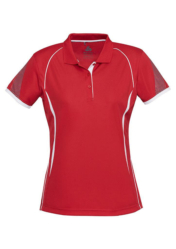 Biz Collection-Biz Collection Ladies Razor Polo-Red/White / 8-Corporate Apparel Online - 9