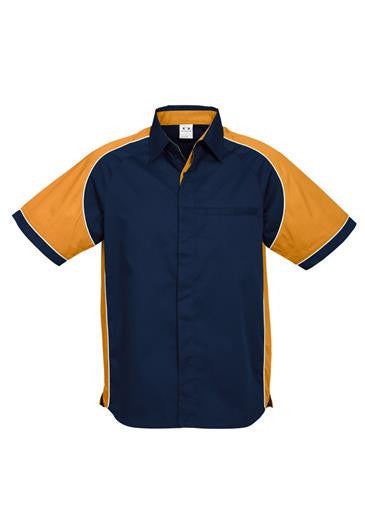 Biz Collection-Biz Collection Mens Nitro Shirt-Navy / Gold / White / S-Corporate Apparel Online - 10