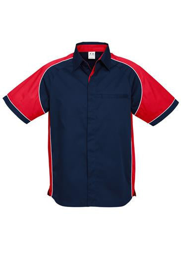 Biz Collection-Biz Collection Mens Nitro Shirt-Navy / Red / White / S-Corporate Apparel Online - 12