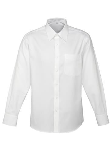 Biz Collection-Biz Collection Mens Luxe Long Sleeve Shirt-White / Small-Corporate Apparel Online - 3
