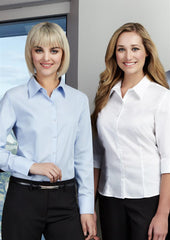 Biz Collection-Biz Collection Ladies Luxe 3/4 Sleeve Shirt--Corporate Apparel Online - 1