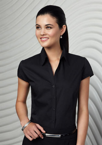 Biz Collection-Biz Collection Ladies Metro Cap Sleeve Shirt--Corporate Apparel Online - 3