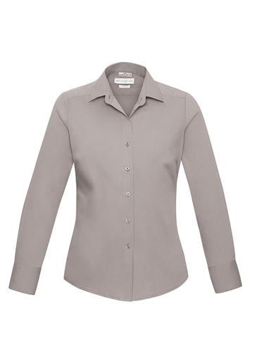 Biz Collection-Biz Collection Verve Ladies Long Sleeve Shirt-Champagne / 6-Corporate Apparel Online - 3