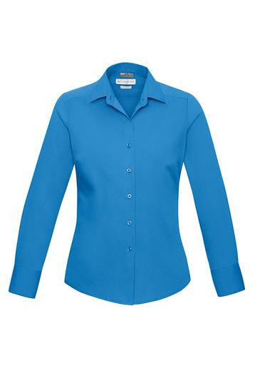 Biz Collection-Biz Collection Verve Ladies Long Sleeve Shirt-Cyan / 6-Corporate Apparel Online - 4