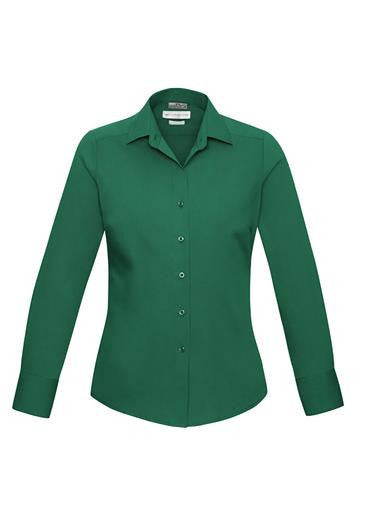 Biz Collection-Biz Collection Verve Ladies Long Sleeve Shirt-Green / 6-Corporate Apparel Online - 6