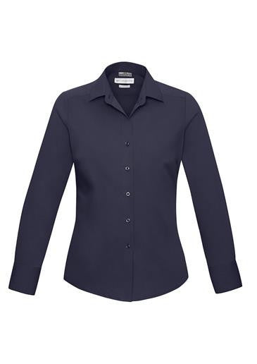 Biz Collection-Biz Collection Verve Ladies Long Sleeve Shirt-Midnight Blue / 6-Corporate Apparel Online - 7