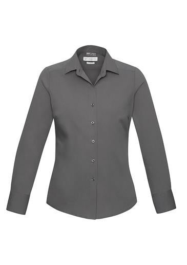 Biz Collection-Biz Collection Verve Ladies Long Sleeve Shirt-Silver / 6-Corporate Apparel Online - 9