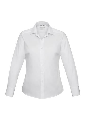 Biz Collection-Biz Collection Verve Ladies Long Sleeve Shirt-White / 6-Corporate Apparel Online - 10