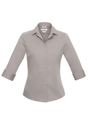 Biz Collection-Biz Collection Verve Ladies 3/4 Sleeve Shirt-Champagne / 6-Corporate Apparel Online - 3