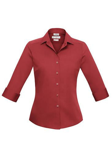 Biz Collection-Biz Collection Verve Ladies 3/4 Sleeve Shirt-Deep Red / 6-Corporate Apparel Online - 5