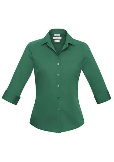 Biz Collection-Biz Collection Verve Ladies 3/4 Sleeve Shirt-Green / 6-Corporate Apparel Online - 7