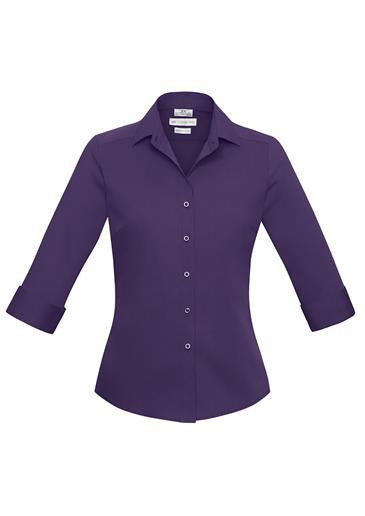 Biz Collection-Biz Collection Verve Ladies 3/4 Sleeve Shirt-Purple / 6-Corporate Apparel Online - 8