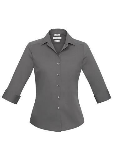 Biz Collection-Biz Collection Verve Ladies 3/4 Sleeve Shirt-Silver / 6-Corporate Apparel Online - 9