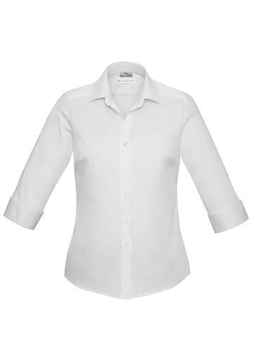 Biz Collection-Biz Collection Verve Ladies 3/4 Sleeve Shirt-White / 6-Corporate Apparel Online - 10