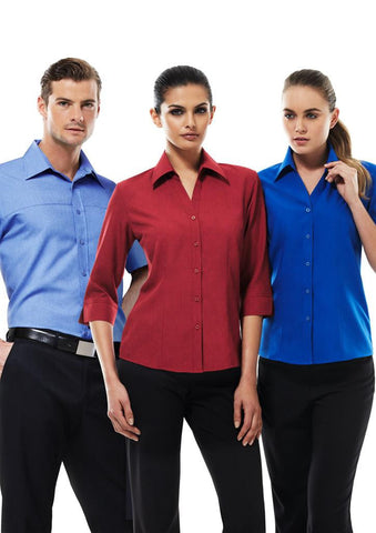 Biz Collection-Biz Collection Ladies Plain Oasis Shirt-3/4 Sleeve--Corporate Apparel Online - 1