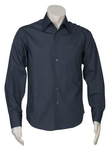 Biz Collection-Biz Collection Mens Metro Long Sleeve Shirt-Charcoal / S-Corporate Apparel Online - 9