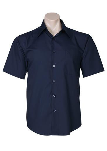 Biz Collection-Biz Collection Mens Metro Short Sleeve Shirt-Navy / S-Corporate Apparel Online - 7
